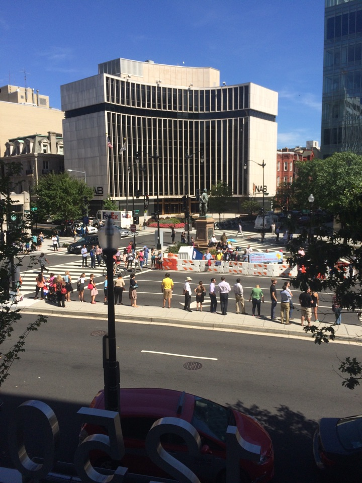 Washington, DC - A view of the Pope coming by 1250 Connecticut Avenue. The view is from our DuPont Conference room.