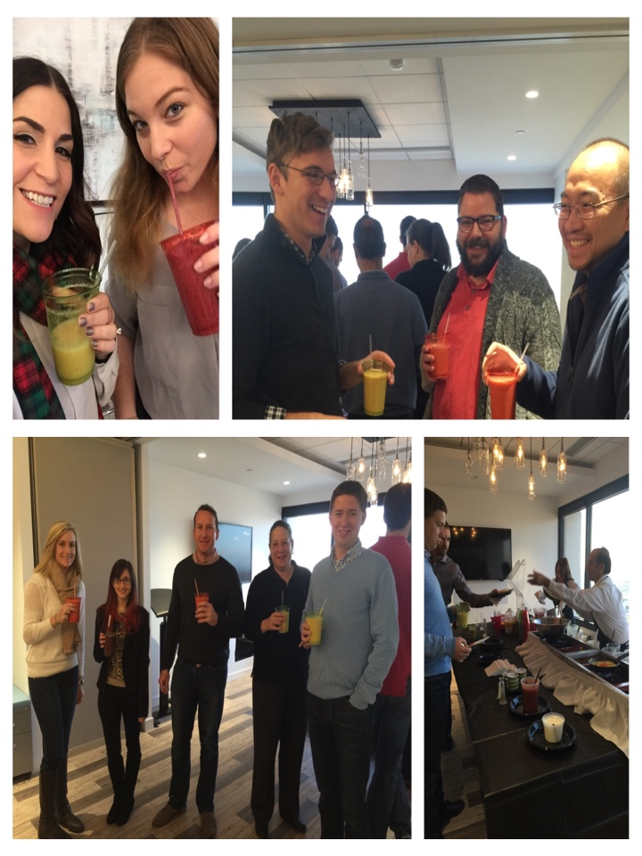 McLean, VA - Enjoying some smoothies and omelettes at our awesome shared office space! Great community and great food :) the perks of co-working!