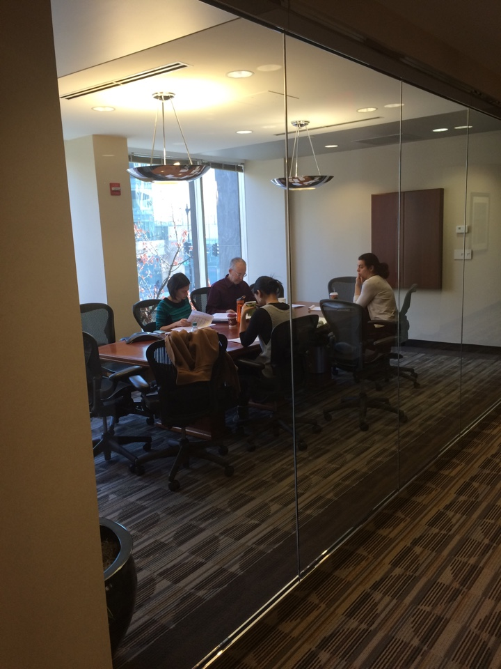Washington, DC - Hard at work in DuPont one three Conference rooms at 1250 Conn Ave NW