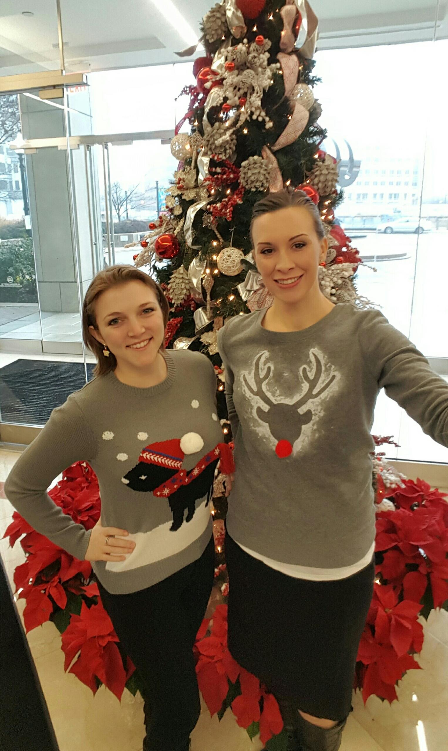 Arlington, VA - It's Tacky Sweater day at our Ballston Center!  Happy Holidays from Metro Offices Ballston staff!