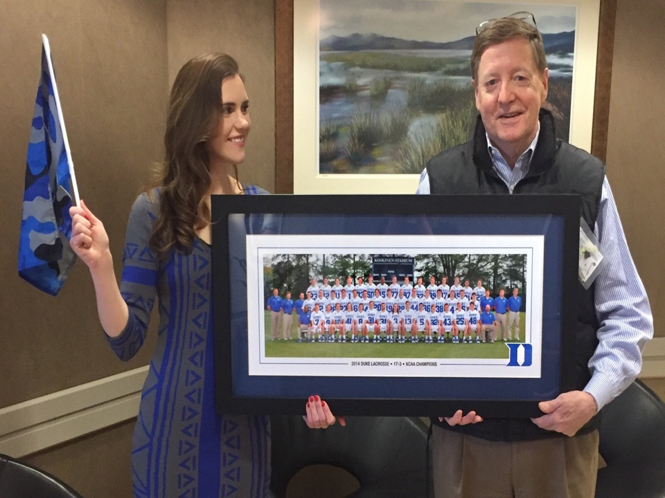 McLean, VA - Tom Parrott helped break up the work day by bringing his Duke memorabilia to the front desk to share with fellow Metro members!