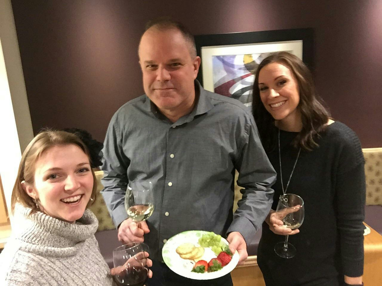 Arlington, VA - Enjoying our monthly wine happy hour at the Ballston Center office this afternoon!