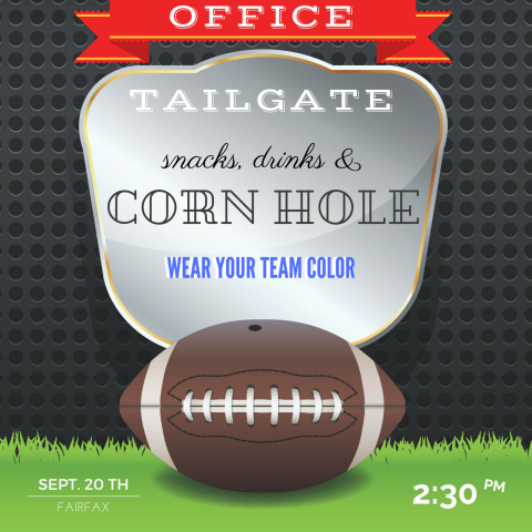 Fairfax, VA - Football Season has started!  & you know what that means... office tailgate !  Couldn't think of a better way to bring our clients together and make work feel like a community.  Our Fairfax and Tysons offices are in - are you?  #metroffices #community #footballseason #DC