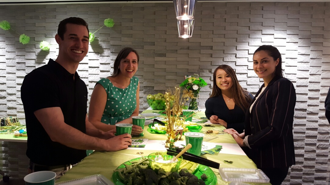 Washington, DC - Metro Offices, Metro Center members enjoying their office space that comes complete with a lounge to unwind. St. Patty's day office shenanigans??