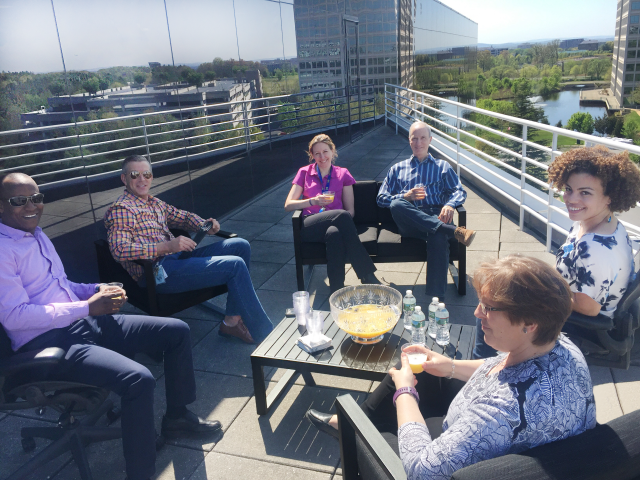 Coworking in Dulles at Metro Offices' Woodland Park location !  Does your office have a rooftop?  Ours does :) Join us - private & shared office space ... and so much more!