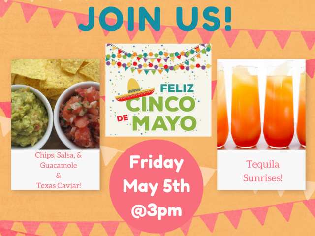 Arlington, VA - Happy Cinco de Mayo! If you're in the mood for some Mexican-inspired snacks and beverages, stop by our office in Arlington, VA for our themed networking event. We love helping our private office and virtual clients make connections!