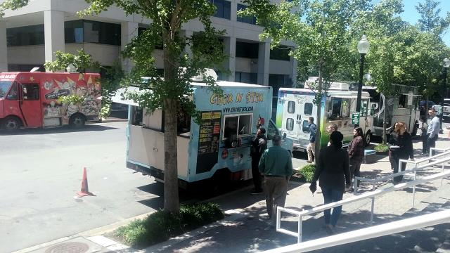 Arlington, VA - Every second Tuesday is #BallstonFoodTruckDay at our office in Arlington, VA! Step out of your private office and take a break from your meeting in our penthouse conference rooms to snag some delicious lunch!