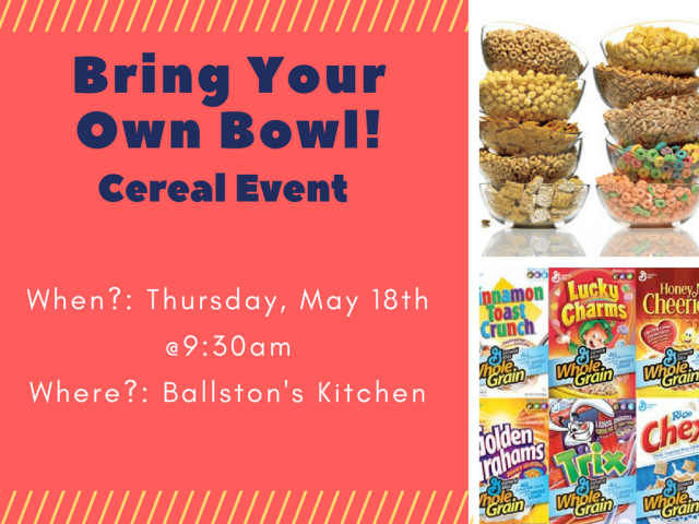 Arlington, VA - Start your morning off right with a cereal bar at our Ballston Center in Arlington, Virginia this Thursday! Your AM meeting in our conference rooms will be both delicious and fun!