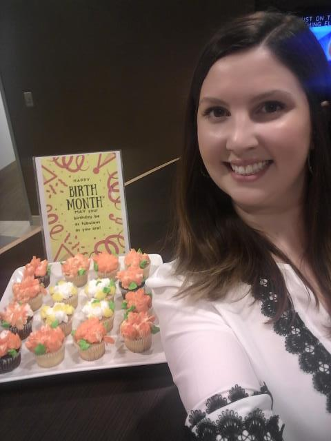 Arlington, VA - Happy May Birthdays! Center Manager Sarah Leming dropped by the private offices of our members in Arlington, VA with birthdays this month to spread some joy!