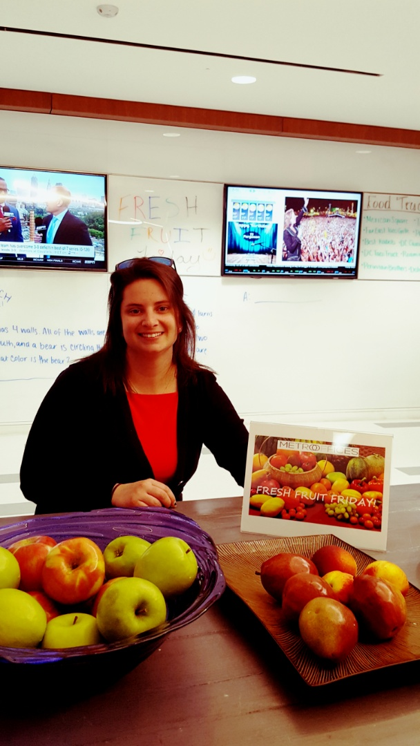 Washington, DC - In our community cafe - Metro Center is keeping it healthy...Fresh Fruit Friday!! #LoveYourWorkspace