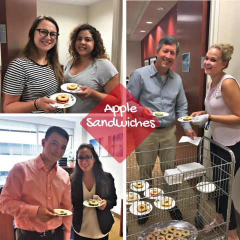 Enjoying early morning snacks at our Reston Office right around the corner from Reston Town Center!  Office life with with snack breaks? Yes please!  Coworking for the win!