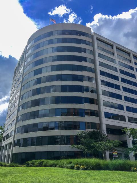 Arlington, VA - The clouds have opened up here in Arlington on this beautiful Friday! Come visit our work space at the Ballston Center where we have multiple spectacular views of sky, city, and interstate 66 from our 12th floor penthouse!