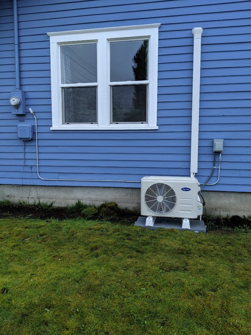 Tacoma, WA - Single head 12k ductless unit
