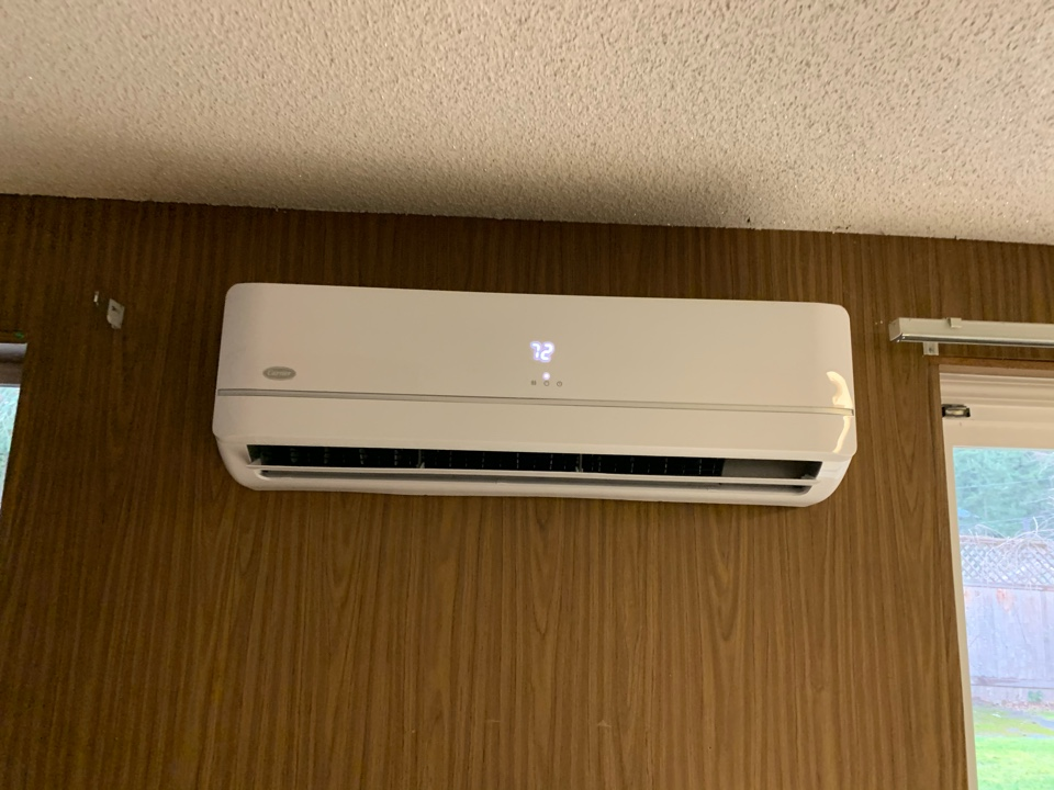 Tacoma, WA - Added a second ductless heat pump in Fircrest WA to one of our existing tacoma power customers.