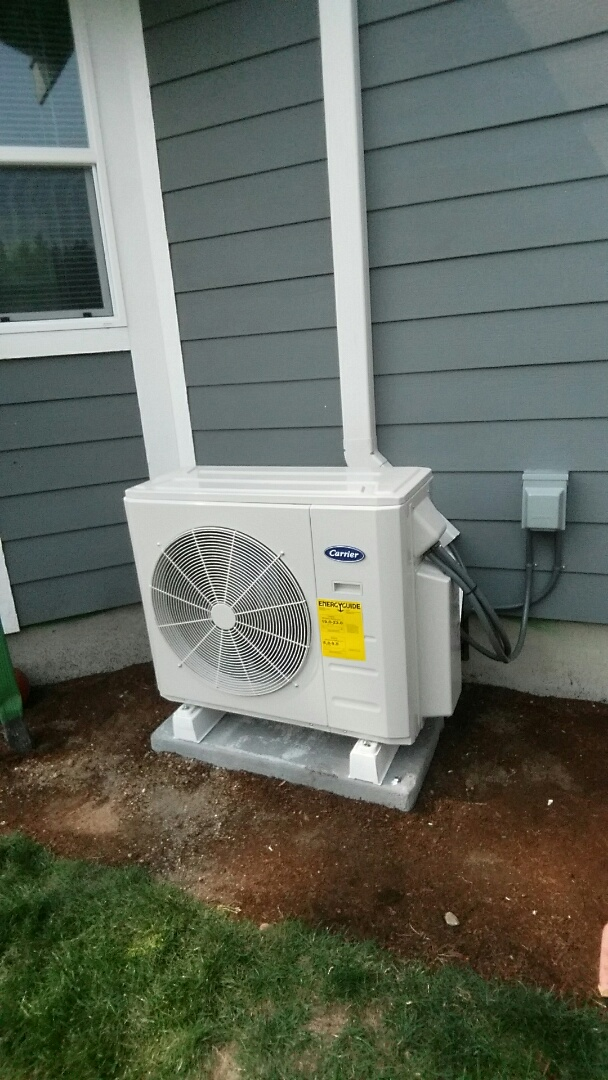 Puyallup, WA - Installed the Miller's a ductless a/c, now they can keep themselves cooled off along with their two dogs