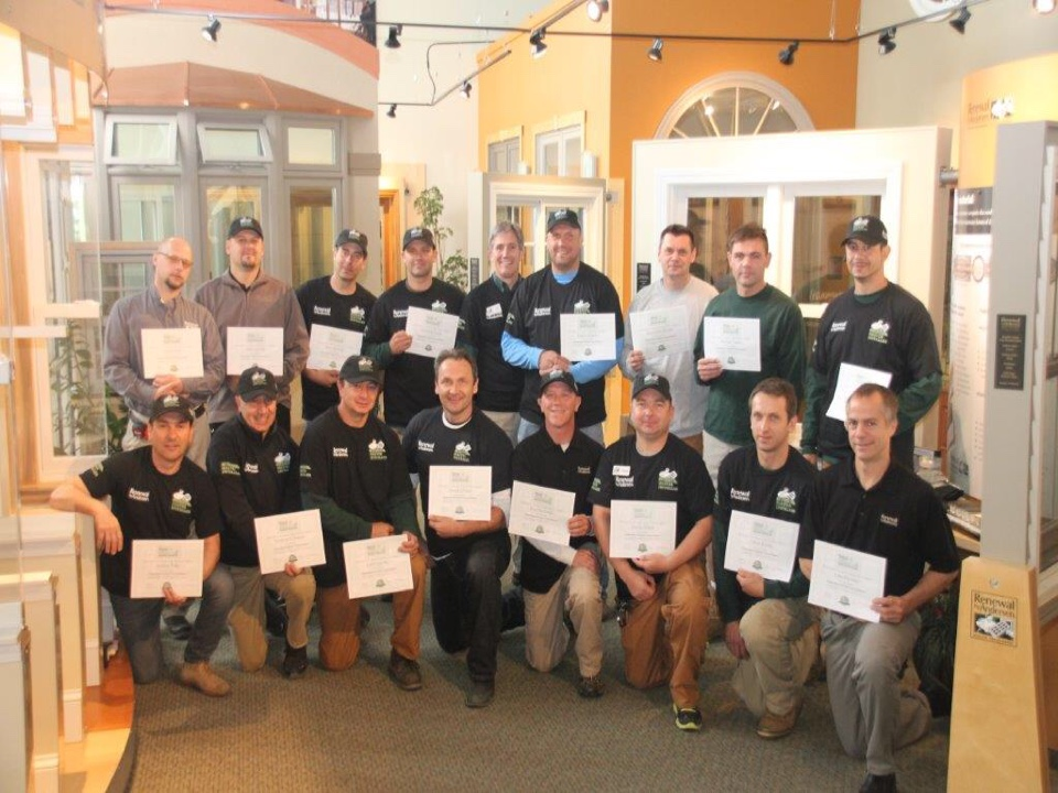 Glenview, IL - Your Renewal by Andersen of Chicago's certified master installers. Pictured are your installation managers, crew chiefs, and technicians