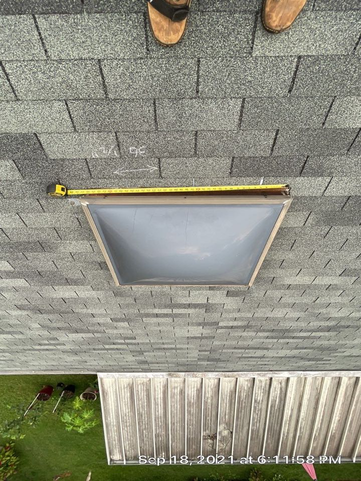 Memphis, TN - We are measuring an old skylight that needs to be replaced. Old plastic lid on the skylight is cracked and needs to be replaced. We will provide a quote and offer to install a superior new high-quality skylight for the customer.