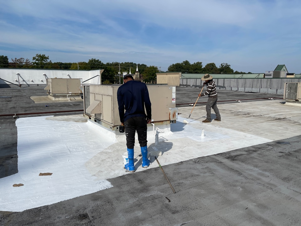 Memphis, TN - Here is a great example of how we can repair large commercial roofs with high quality isolated repairs to stop leaking.