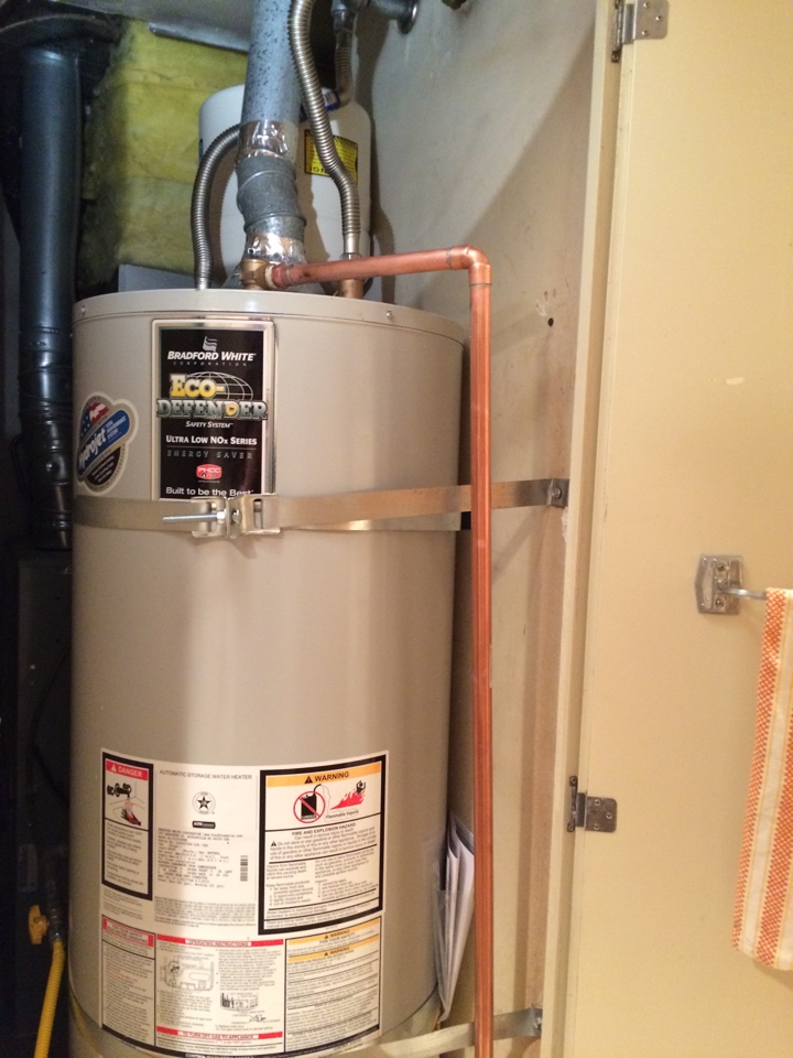 Rancho Cucamonga, CA - In Covina replacing a 50 gallon  water heater and installing a thermal expansion tank and water pressure regulator