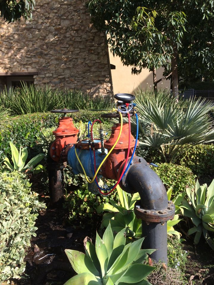 """Los Angeles, CA - 6"""" Wilkins 375 RP Backflow repair and testing all in the same day."""