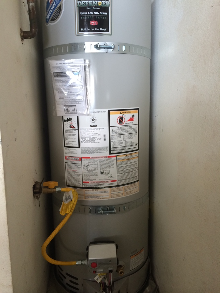 Chino Hills, CA - Conducted a warranty repair on a Bradford White water heater  in Chino Hills.