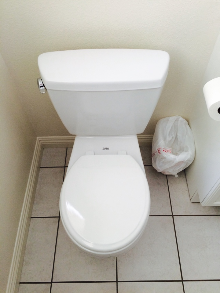 Montebello, CA - Pulled and reset toilets at a residential location in Montebello.
