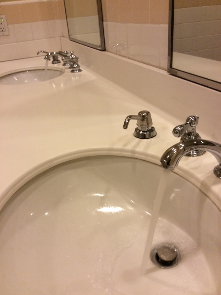 Ontario, CA - Replacement of bathroom sink aerator that had gone missing