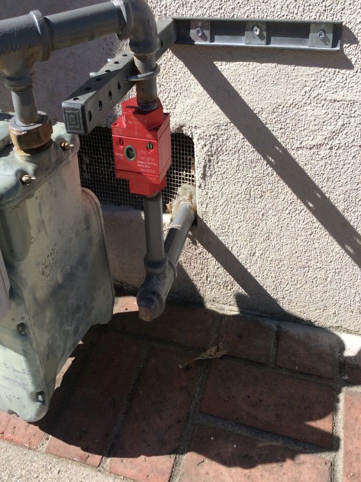 San Gabriel, CA - Emergency earthquake gas valve installation