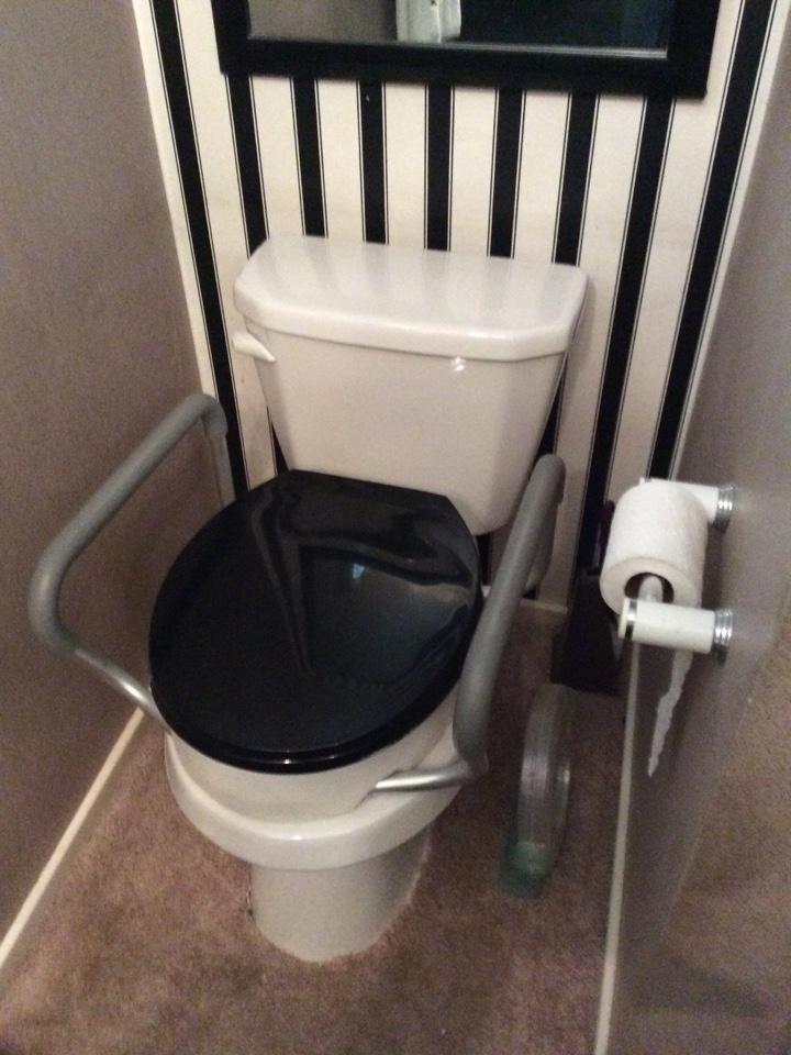 Duarte, CA - Install handicap toilet, Gerber standard round toilet installation