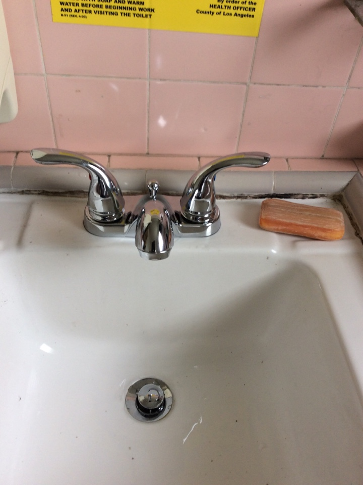 Temple City, CA - Install new 2 handle lav faucet