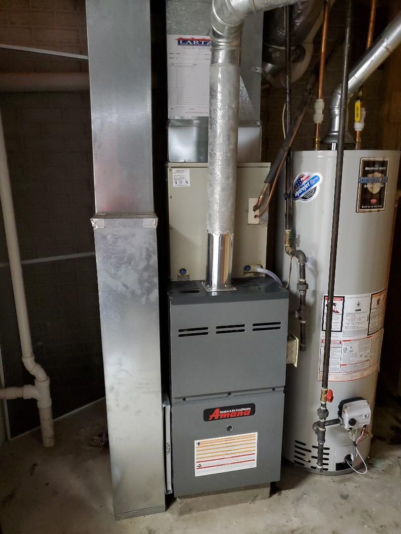 Atlanta, IL - Install new amana furnace