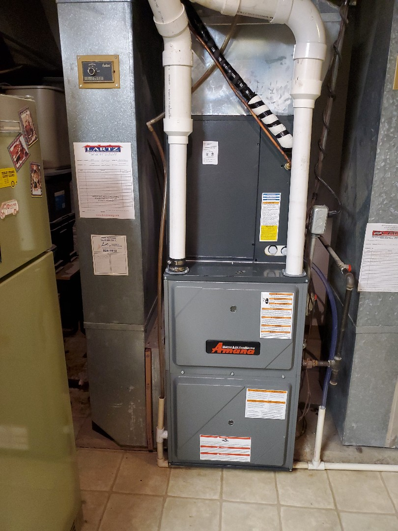Bloomington, IL - Install new amana furnace and ac