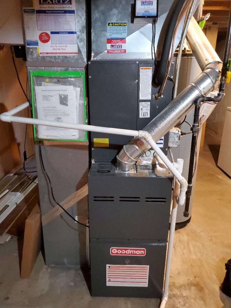 Normal, IL - Seasonal tune up on Goodman furnace