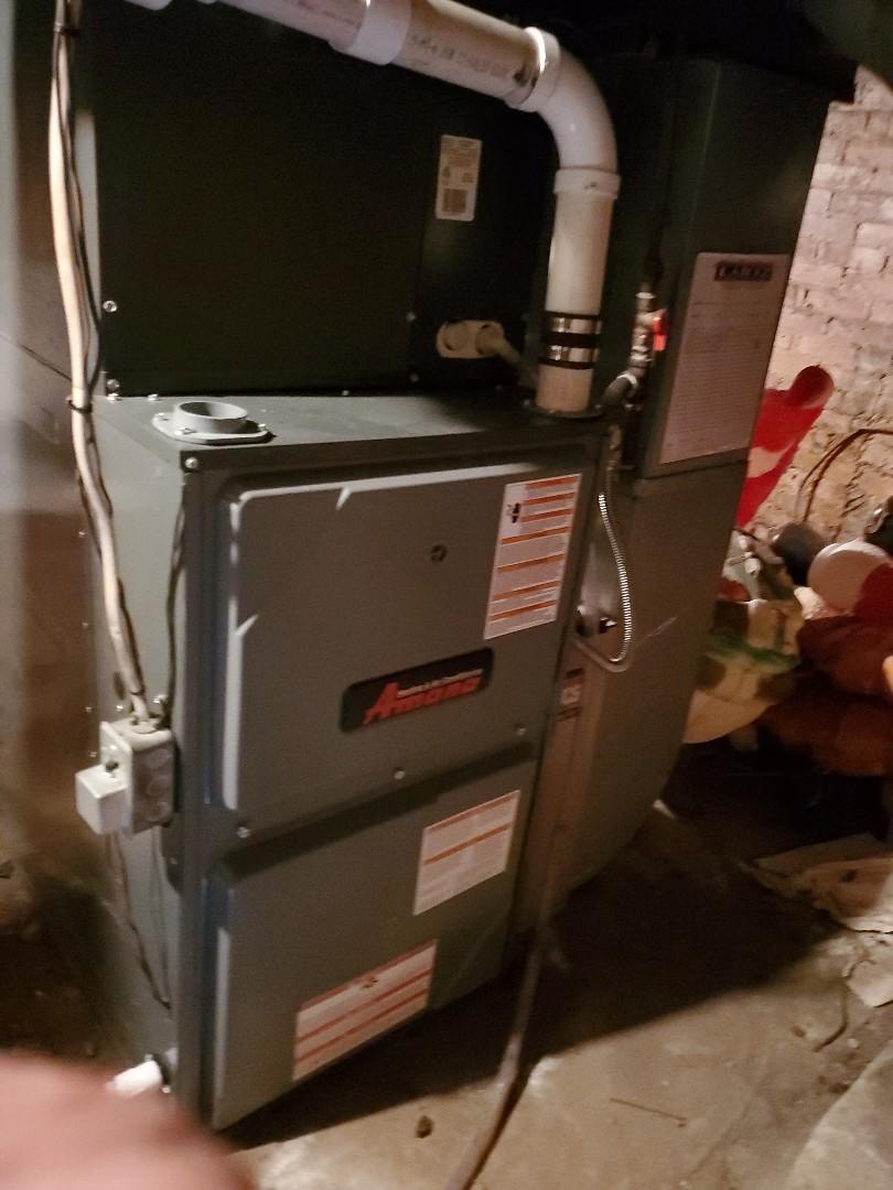 Gridley, IL - Seasonal tune up on Amana furnace