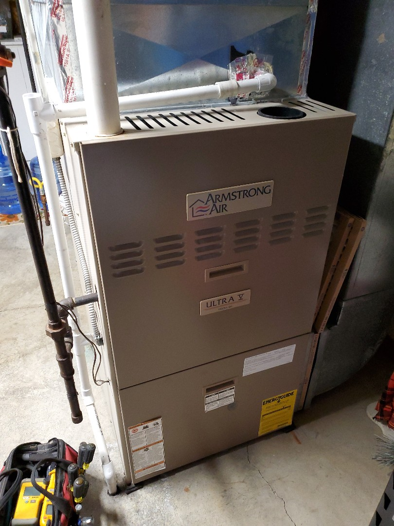 Le Roy, IL - Seasonal tune up on Armstrong air furnace