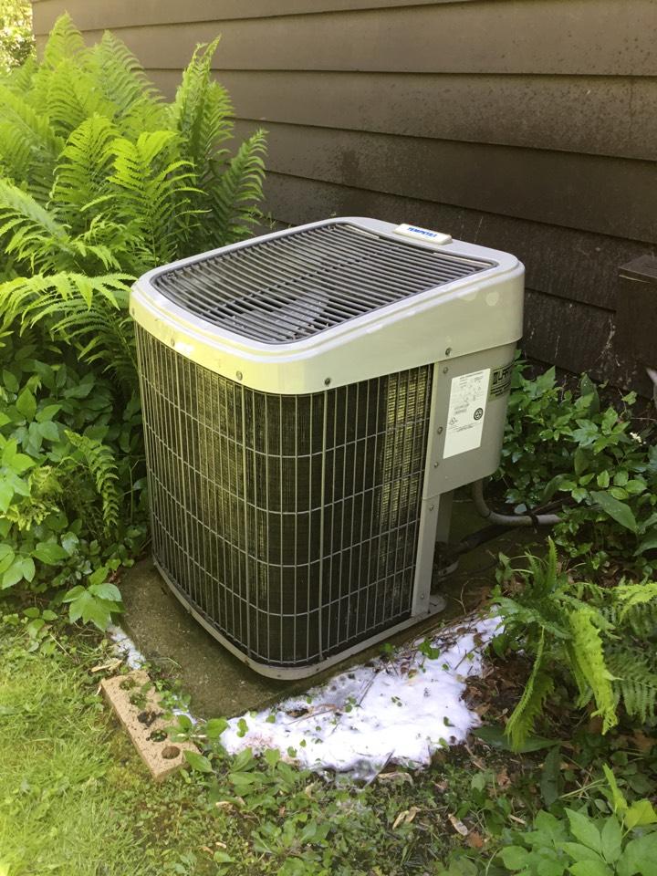 Normal, IL - Seasonal maintenance on this older TEMPSTAR AC.
