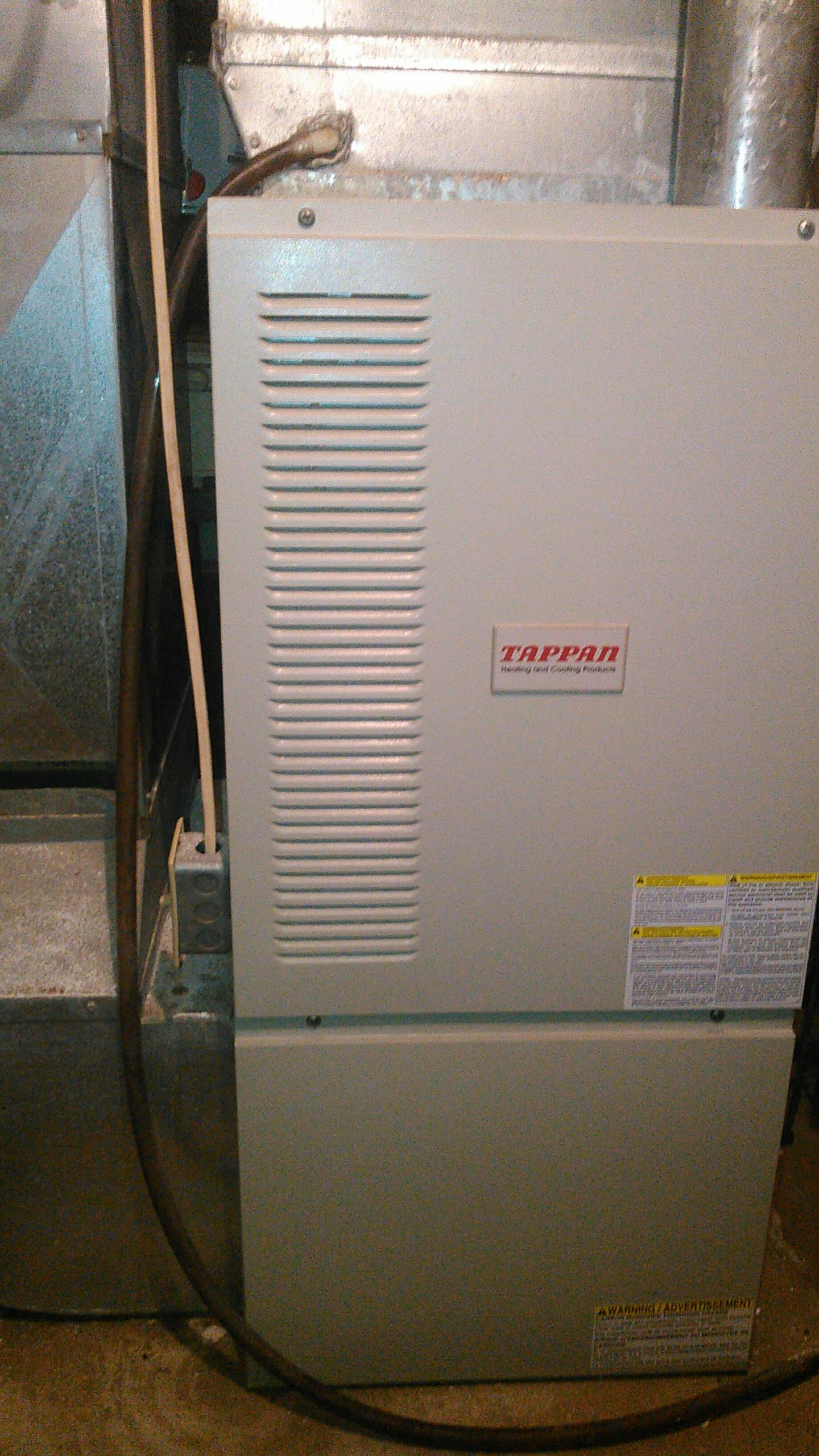 Stanford, IL - Annual Heating Maintenance on a Tappan Natural Gas Furnace