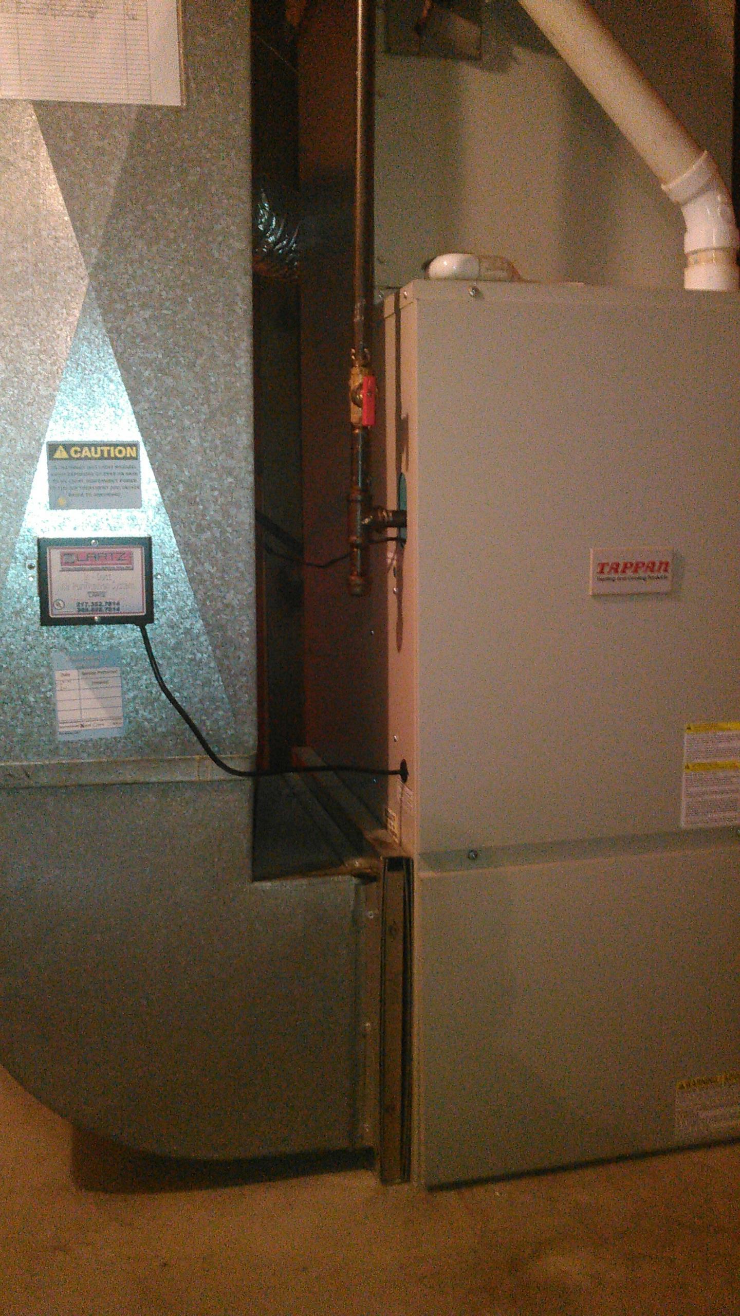 Atlanta, IL - Annual Heating Maintenance on a Tappan Furnace