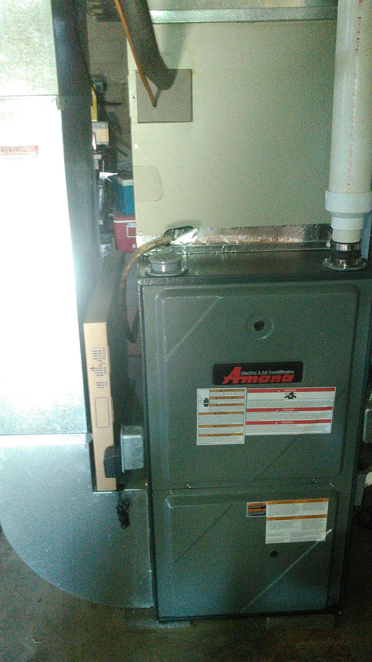 Armington, IL - Annual Heating Maintenance on an Amana LP Furnace