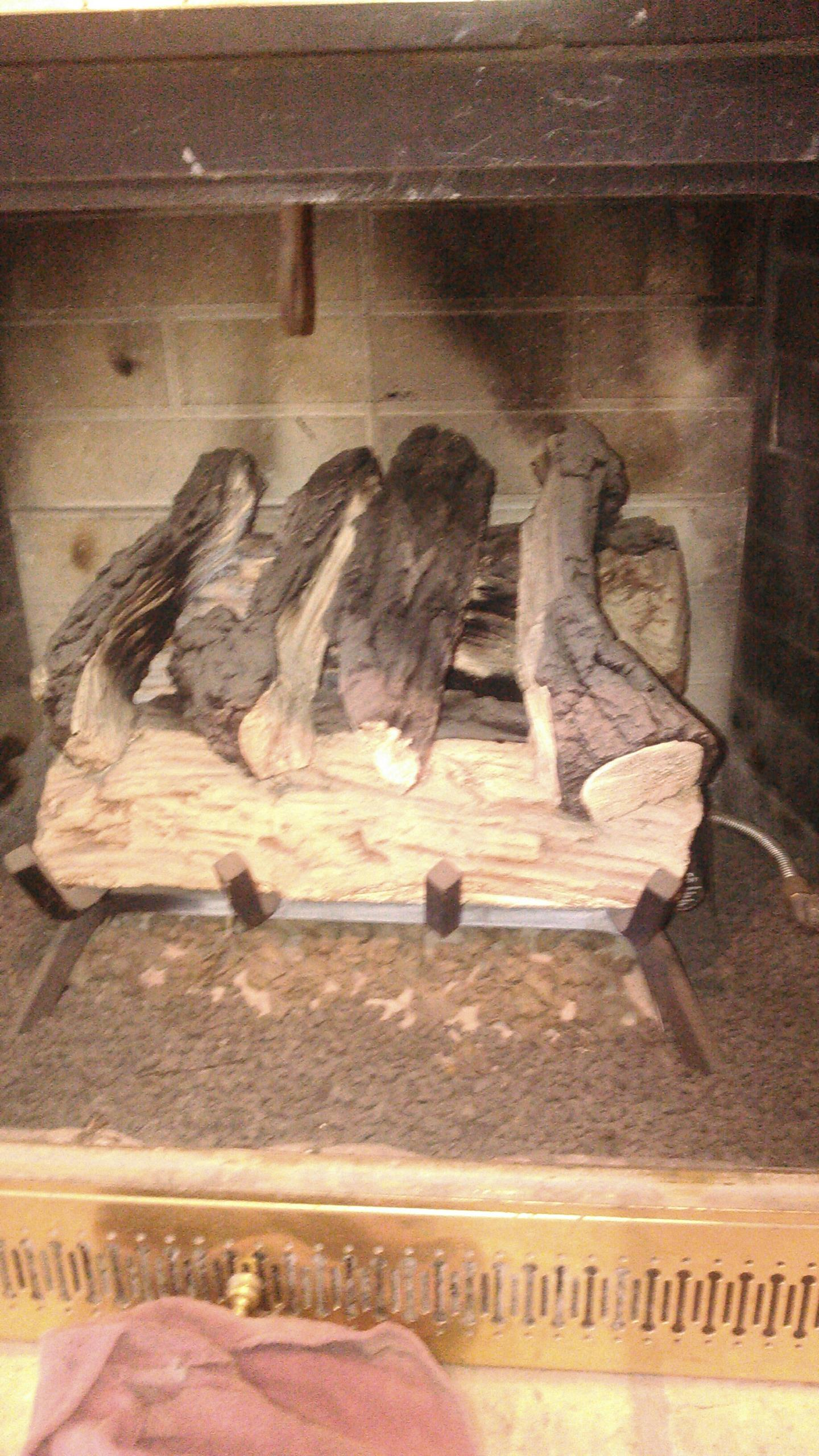 Lexington, IL - SERVICE CALL ON GAS LOG FIREPLACE
