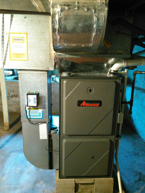 Stanford, IL - ANNUAL SERVICE ON AN AMANA FURNACE TO REDUCE THE COST OF MONTHLY UTILITY BILLS.