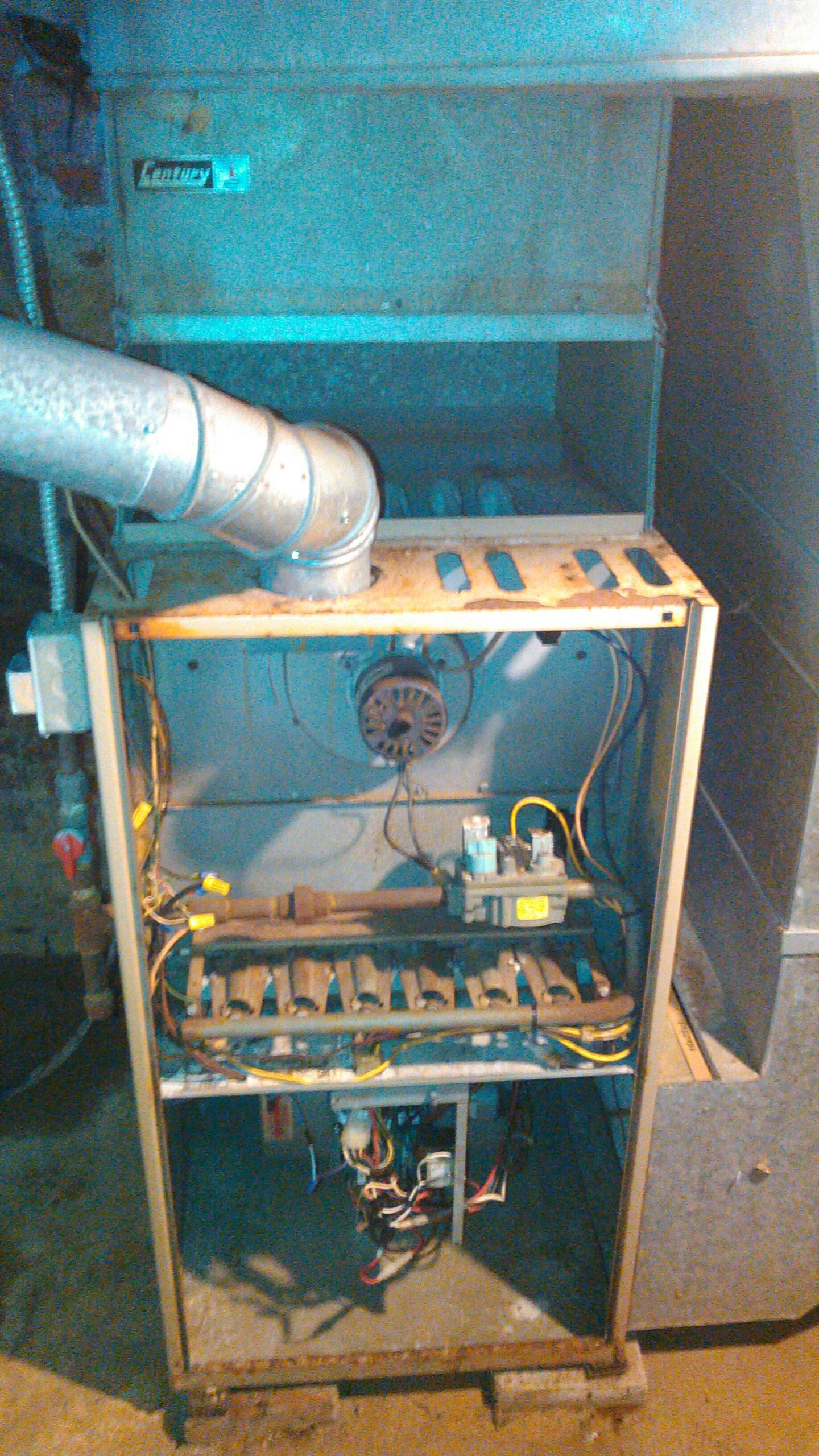Heyworth, IL - FURNACE INSTALL.  REMOVED OLD YORK FURNACE