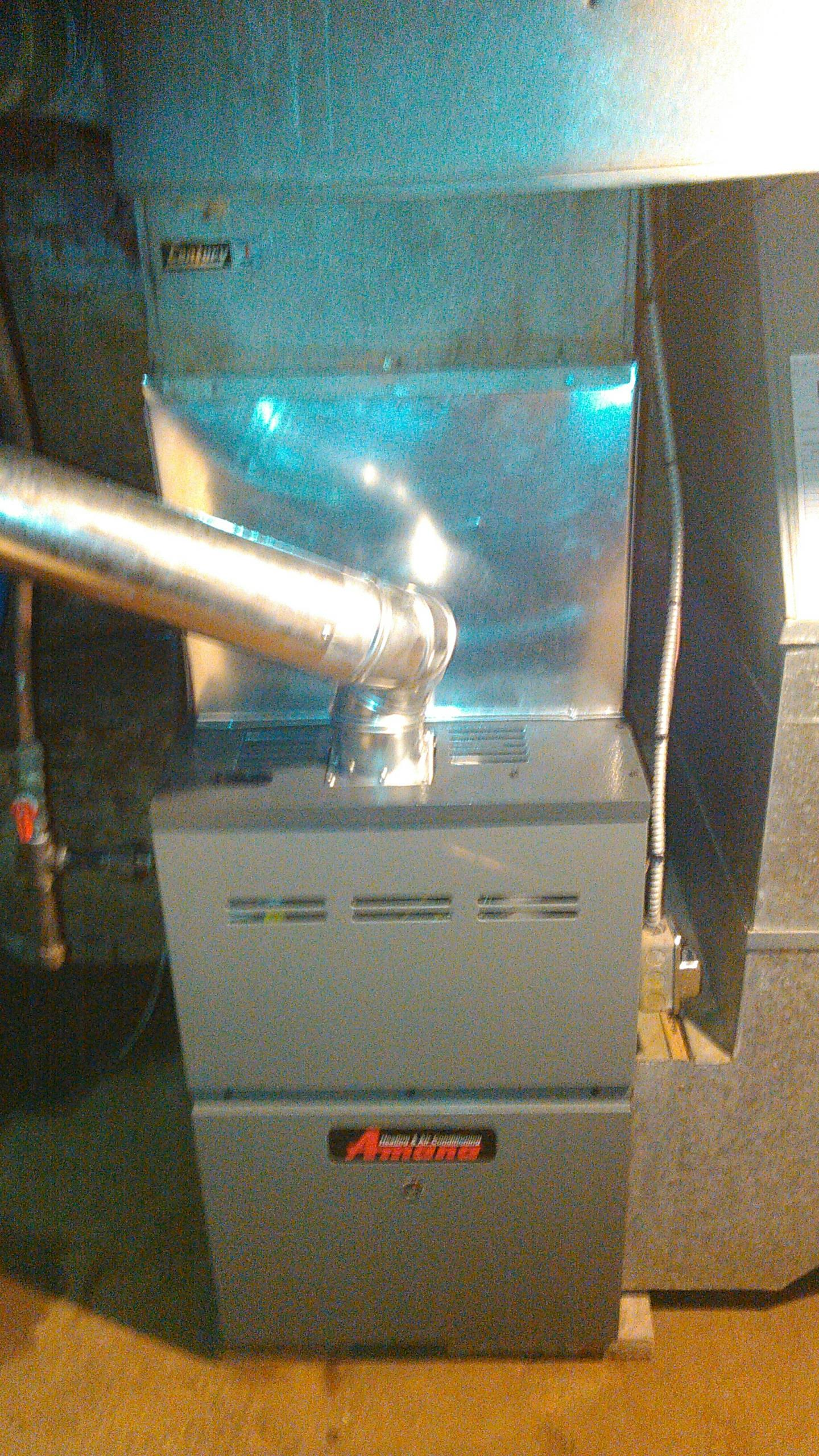 Heyworth, IL - INSTALLED NEW AMANA 100,000 BTU 80% LP FURNACE
