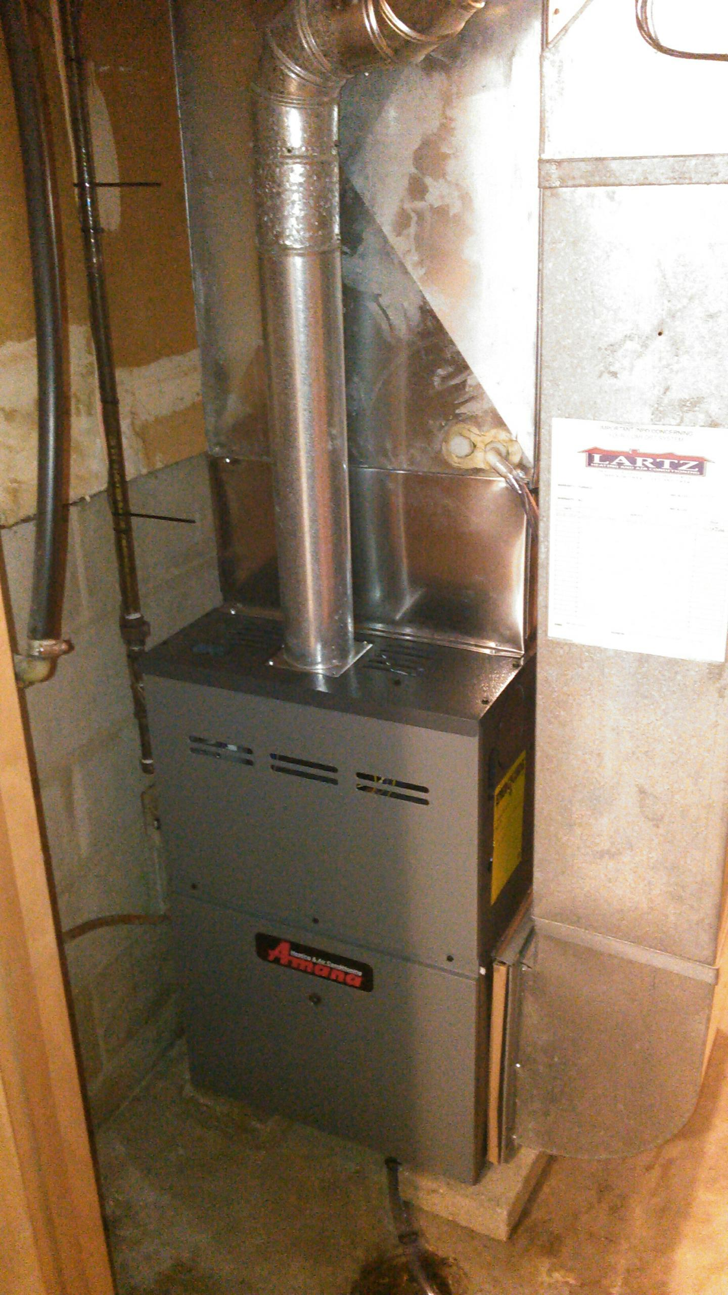 Downs, IL - AFTER FURNACE WAS INSTALLED PICTURE