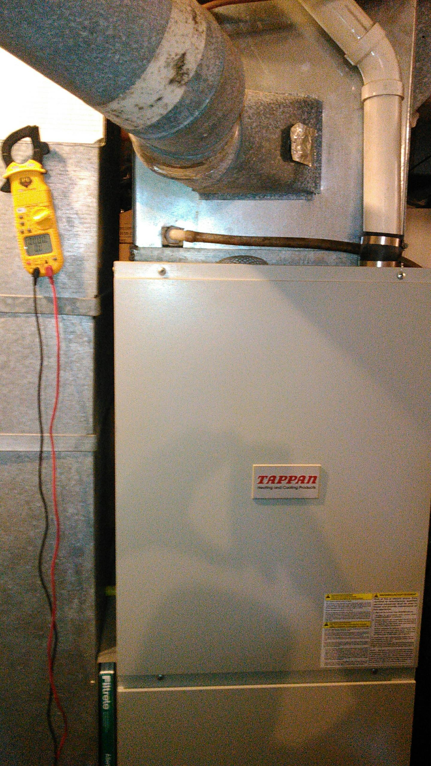 Hudson, IL - SERVICE ON A TAPPAN 90% FURNACE.