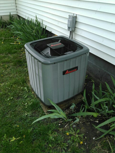 Lexington, IL - AC SERVICE ON AN AMANA AC SYSTEM AND A COIL PAN TREATMENT FOR EVAPORATOR COIL DRAIN PAN.