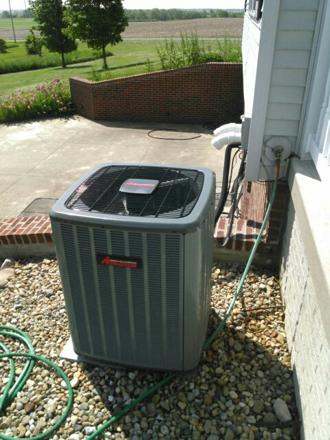 Saybrook, IL - ANNUAL SERVICE ON AN AMANA AC SYSTEM AND A ACID WASH ON THE OUTDOOR CONDENSER UNIT.