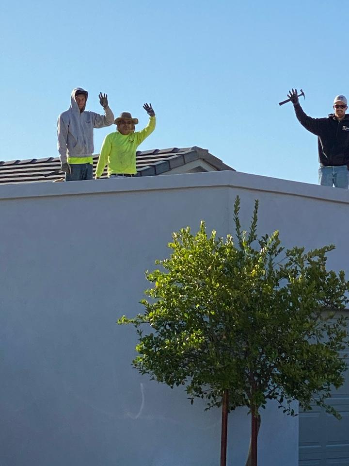 Scottsdale, AZ - Installing a beautiful foam roof in Scottsdale.