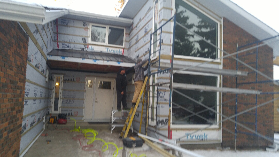 Calgary, AB - Canyon Meadows Prep completed, now start the installation of James Hardie board and batten!