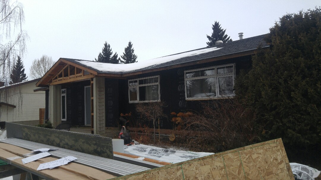 Calgary, AB - Dalhousie demo being completed! Can't wait to see the James Hardie product go on the wall!